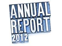 Informe anual imagem de stock