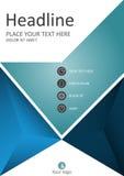 Informe anual con las figuras geométricas Diseño de la cubierta Vector Foto de archivo libre de regalías