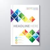 Informe anual da tampa ilustração stock