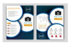 Informe anual do vetor, disposição da capa do livro, folheto do folheto, molde do inseto, tamanho A4 Imagens de Stock Royalty Free