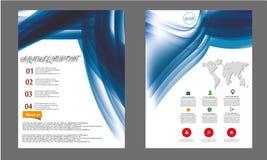 Informe anual do vetor, disposição da capa do livro, folheto do folheto, molde do inseto, tamanho A4 Fotos de Stock Royalty Free