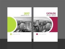 Informe anual e catálogo do molde do projeto da tampa ilustração do vetor