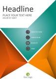 Informe anual financiero en diseño de la cubierta A4 Vector Fotografía de archivo libre de regalías