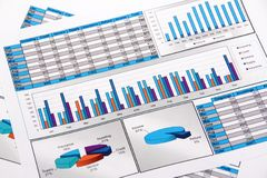 Informe anual. Gráfico. Diagrama. Carta. Analisys. Fotografia de Stock Royalty Free