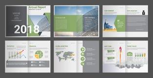 Informe anual, perfil de compañía, folleto de la agencia, plantilla multiusos de la presentación ilustración del vector