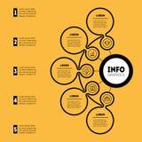 Informe anual Presentación de Infographic o del negocio con el optio 5 libre illustration