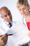 Informe clínico Fotografía de archivo libre de regalías
