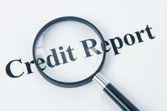 Informe de crédito fotos de archivo libres de regalías