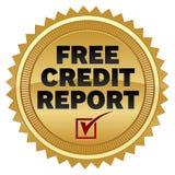 Informe de crédito libre Foto de archivo