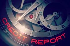 Informe de crédito sobre el mecanismo de lujo del reloj de los hombres 3d Imágenes de archivo libres de regalías