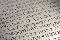 Informe de ejecución del guirigay del ordenador Imagen de archivo libre de regalías