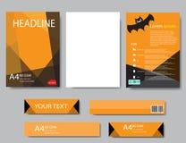 Informe de Halloween del papel de cubierta del diseño Geométrico abstracto Imágenes de archivo libres de regalías