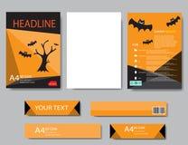 Informe de Halloween del papel de cubierta del diseño Geométrico abstracto Imagen de archivo libre de regalías