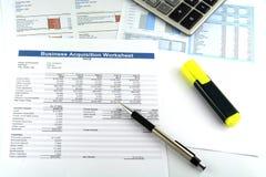 Informe de la carta de negocio Imagen de archivo libre de regalías