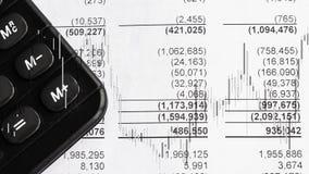 Informe de la declaración de finanzas del balance de la compañía con el precio común de la vela ilustración del vector