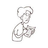 Informe de la lectura del hombre Imágenes de archivo libres de regalías