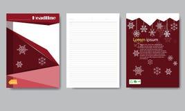 Informe de la Navidad del papel de cubierta del diseño Fotos de archivo libres de regalías
