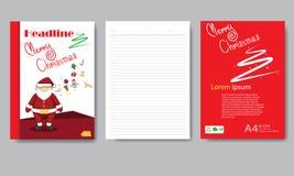 Informe de la Navidad del papel de cubierta del diseño Vector geométrico abstracto t Imágenes de archivo libres de regalías