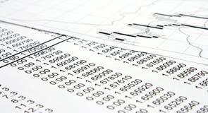 Informe de las finanzas Imagen de archivo
