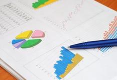 Informe de las finanzas Fotografía de archivo