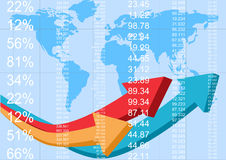 Informe de las finanzas stock de ilustración
