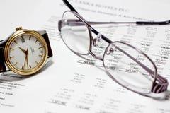 Informe de las finanzas Imagenes de archivo