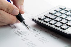 Informe de las finanzas Foto de archivo