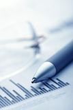 Informe de las finanzas Fotografía de archivo libre de regalías