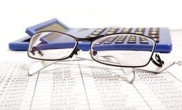 Informe de las finanzas Imágenes de archivo libres de regalías