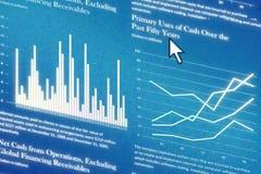 Informe de las finanzas Imagen de archivo libre de regalías