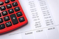 Informe de los datos financieros Fotografía de archivo