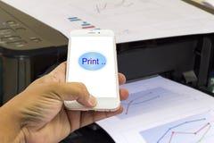Informe de negocios de la impresión de la impresora imagen de archivo libre de regalías