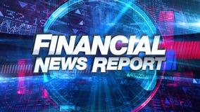 Informe de noticias financieras - gráfico del título de la difusión stock de ilustración