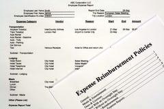 Informe del costo del empleado Fotografía de archivo
