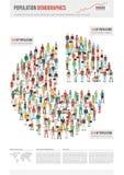 Informe del demographics de la población stock de ilustración
