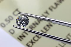 Informe 01 del diamante Fotos de archivo libres de regalías