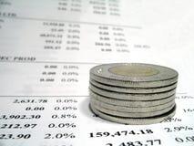 Informe del dinero Foto de archivo libre de regalías