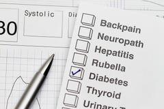 Informe del examen médico Imágenes de archivo libres de regalías