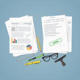 Informe del fichero del negocio stock de ilustración