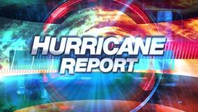 Informe del huracán - los gráficos de la difusión TV titulan stock de ilustración