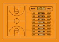 Informe del juego de baloncesto Imagenes de archivo