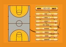 Informe del juego de baloncesto Imagen de archivo