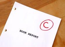Informe del libro de C Fotos de archivo libres de regalías