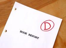 Informe del libro de D Fotografía de archivo