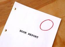 Informe del libro de Gradeless Imagen de archivo libre de regalías