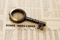 Informe del mercado de acción Imagen de archivo libre de regalías