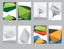 Informe del papel de cubierta del diseño Plantilla geométrica abstracta del vector Fotos de archivo libres de regalías