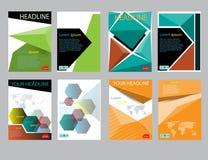 Informe del papel de cubierta del diseño Plantilla geométrica abstracta del vector Imagen de archivo
