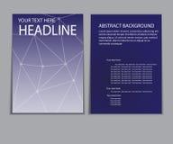 Informe del papel de cubierta del diseño Plantilla geométrica abstracta del vector Imagen de archivo libre de regalías