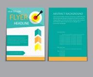 Informe del papel de cubierta del diseño Plantilla geométrica abstracta del vector Fotografía de archivo